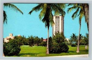 Boca Raton FL, Boca Raton Club Hotel, Golf Course, Chrome Florida Postcard