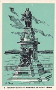 Monument Champlain , Quebec , Canada , 50-60s #2
