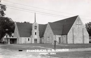 Dysart Iowa~Evangelical United Brethren UB Church~Carport~Conference~1957 RPPC
