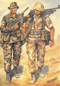 Postcard Uniforms of The Royal Marines In Fighting Order 1991-1996 #37-7