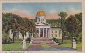 State Capitol Montpelier Vermont