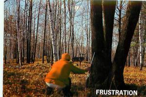 Postcard Michigan Frustrated Deer Hunter Cartoon Orange Buck Antlers  # 3173A