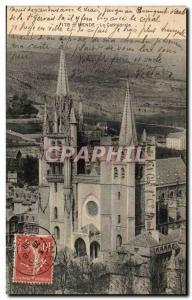 Old Postcard The cathedral Mende