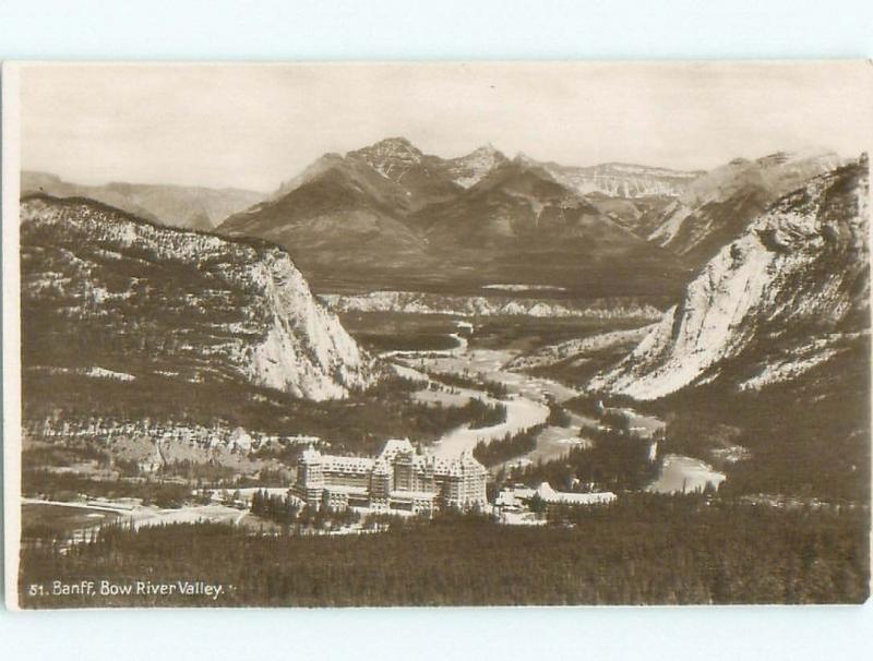 1940's rppc NICE VIEW Banff Alberta AB W0975