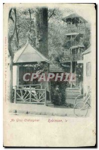 Old Postcard Au Gros Chataignier Robinson Velo Cycle