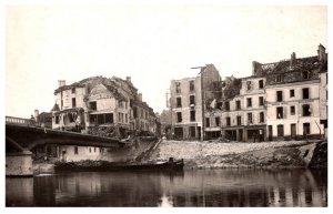 War Bombed Buildings and Bridge