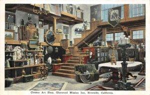 GLENWOOD MISSION INN Cloister Art Shop, Riverside, CA c1920s Vintage Postcard