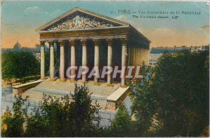 Old Postcard PARIS Overview of the Madeleine