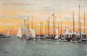 New Jersey Atlantic City Yachts At Inlet 1911