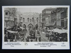 SOUTHAMPTON Tramcar 12 in High Street Bargate c1901 RP Postcard by Pamlin Repro
