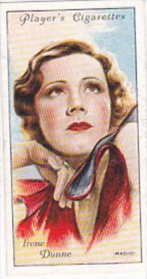 Player Cigarette Card Film Stars 2nd Series No 17 Irene Dunne Radio