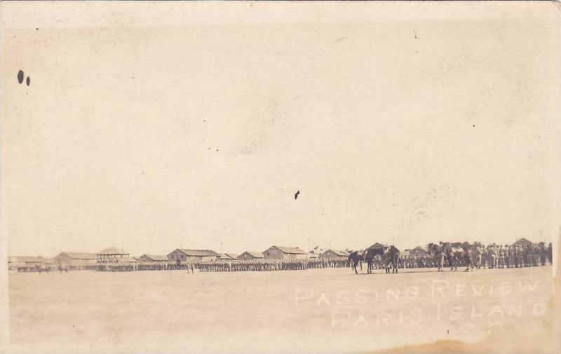 RP, Passing Review, Troops, Parris Island, South Carolina, 1920-1940s