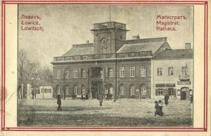 poland, ŁOWICZ LOWITSCH, Rathaus, Town Hall (1915) Postcard