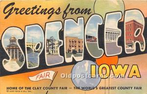 Spencer, Iowa, IA, USA 1950