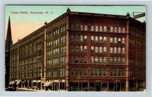 Syracuse NY, Yates Hotel, Vintage New York Postcard