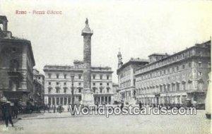 Piazza Colonna Roma, Italy Unused
