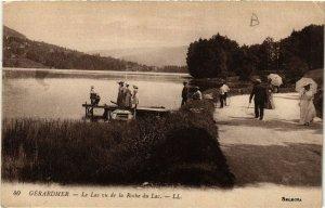 CPA GÉRARDMER Le Lac vu de la Roche du Lac (402436)