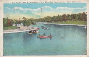 Artificial Lake at Lafontaine Park, Montreal, Quebec, Canada, PU-1929