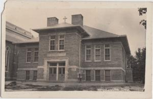 Ohio Real Photo RPPC Postcard c1910 MONROEVILLE St Joseph School Building