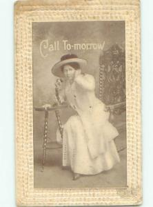 Divided-Back PRETTY WOMAN Risque Interest Postcard AA8324