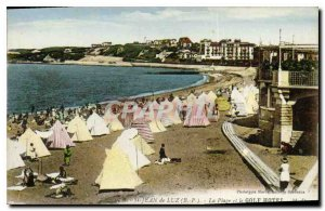 Old Postcard The Beach and the Golf Hotel St Jean de Luz