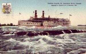 LACHINE RAPIDS TOUR BOAT ST. LAWRENCE RIVER CANADA 1925