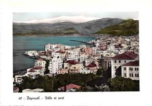 Beirut, Lebanon Postcard, Carte Postale Town and Harbour Beirut Town and Harbour