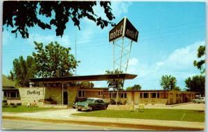 Winona, Minnesota Postcard STERLING MOTEL Highway 14 Roadside w/ 1959 Cancel