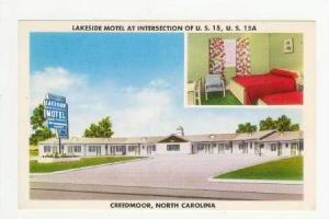 2-Views, Interior & Exterior, Lakeside Motel at Intersection of U. S. 15, U. ...