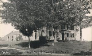 Nathan Hale Birthplace South Coventry CT CS Combs Postcard
