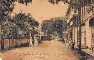 Papeete Tahiti East Street Scene Gauthier Postal Used Vintage Postcard AA45178