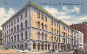 Exterior,  Post Office and Parcel Post Building,  Richmond,  Virginia,  PU_1955