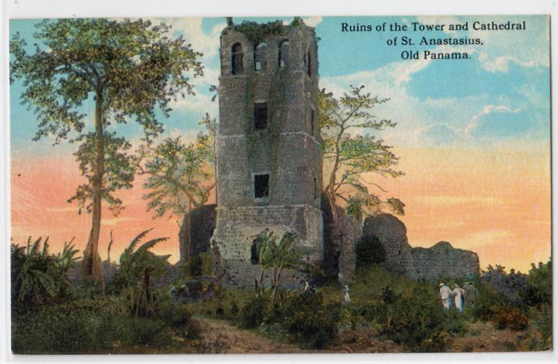 Ruins of the Tower & Cathedral, St Anastasium, Old Panama