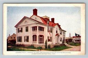 Jamestown Exposition 1907 No. 191 Conn., Rhode Island & Mass. Buildings Postcard