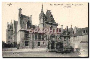 Old Postcard Bourges Palais Jacques Coeur The Facade