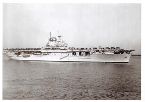 Postcard United States Navy Aircraft Carrier USS Wasp CV-7 27 December 1940 10D