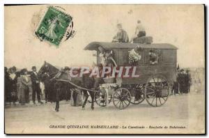 Old Postcard Great fifteen Marseillaise The cavalcade Gypsy Caravan Gypsy boh...