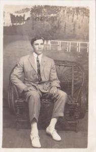 Man Posing C H Bartholomew Summer 1913 Real Photo