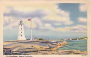 P1955 vintage postcard the lighthouse nassau bahamas unused