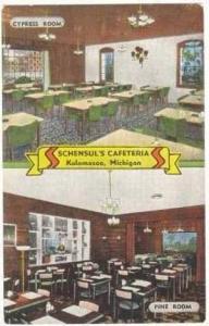 2Views, Schensul's Cafeteria, Cypress Room, Pine Room, Kalamazoo, Michigan, 1...