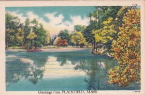Massachusetts Greetings From Plainfield