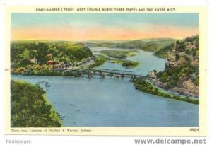 Harper´s Ferry, West Virginia, Where Three States Meet, WV, Linen