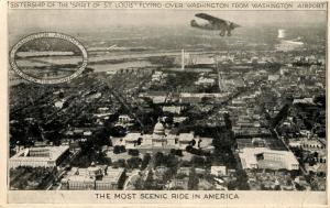 DC - Washington. Sistership of the Spirit of St Louis flying over city