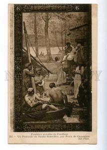 183963 FRANCE CHAVANNES tomb painting pantheon DEATH Vintage