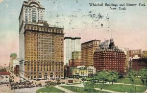 USA - Whitehall Buildings and Battery Park New York - 01.77