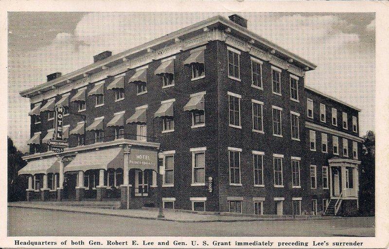 Farmville VA, Prince Edward Hotel, 1943, Civil War Interest, Lee & Grant HQ