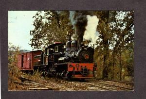 CA West Side Cheery Valley Railroad Train nr Tuolumne California Postcard