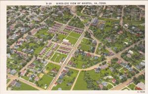 Birds Eye View Of Bristol Borad Virginia Tennessee on The Side Of Virginia