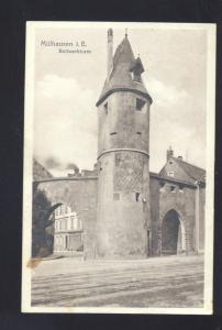 MULHAUSEN I,E, BOLLWERKLURM GERMANY ANTIQUE VINTAGE POSTCARD