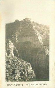Arizona Becker Butte US 60 1940s1940s RPPC Photo Postcard 21-6034